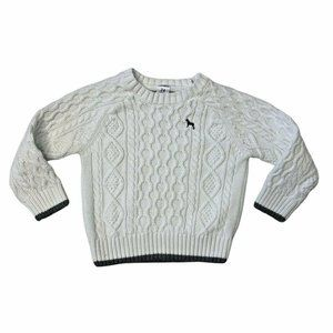Carters Baby Boys Sweater White Cable Knit 24M